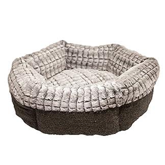 Rosewood 40 Winks Tweed/Plush Bed, 19-Inch, grey 14