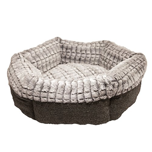 Rosewood 40 Winks Tweed/Plush Bed, 19-inch