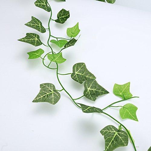 künstlichen Leaf Garland, Ivy Pflanzen Vine zum Aufhängen, Girlande, künstlicher Efeu für Hochzeit, Home, Küche, Garten, Büro, - Für Partei Die Geld-baum