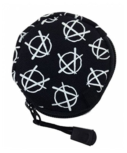 Anarchie Anarchy Punk Gothic Münzbörse Geldbörse Etui rund -