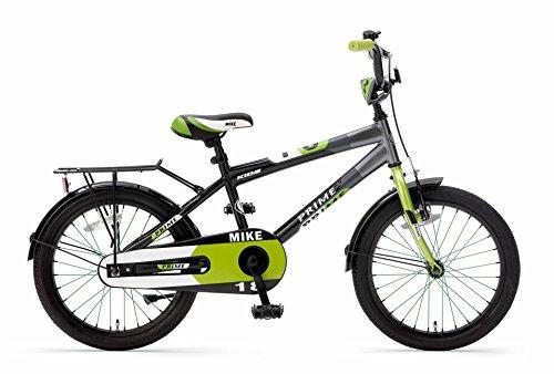 Kinderfahrrad Jungenfahrrad Popal Mike18 Zoll mit Vorradbremse am Lenker und Rücktrittbremse Grau Grün 95% Zusammengebaut