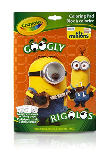 Album googly eyes minions crayola googly minions colouring book