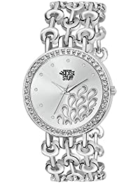 Swadesi Stuff Platinum Analog Silver Dial Women's Watch 63b