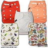 LittleBloom Bebé Pañales Lavables Pañal Reutilizable Insertos, Cierre: POPPER, Set de 5