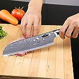 Kitchen Emperor Santokumesser, Küchenmesser, Kuechenmesser Scharfe Klinge, Prämie Rostfreier Stahl Chef Messer mit pakakaholzgriff - 2