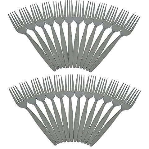 Argon Tableware Set Of 24 Stainless Steel Dinner Forks