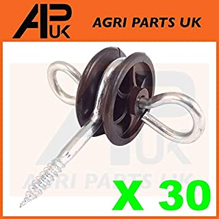 APUK 30 x Electric Fence Gate Handle Insulators Anchors Tape Screw Poly Rope Fencing