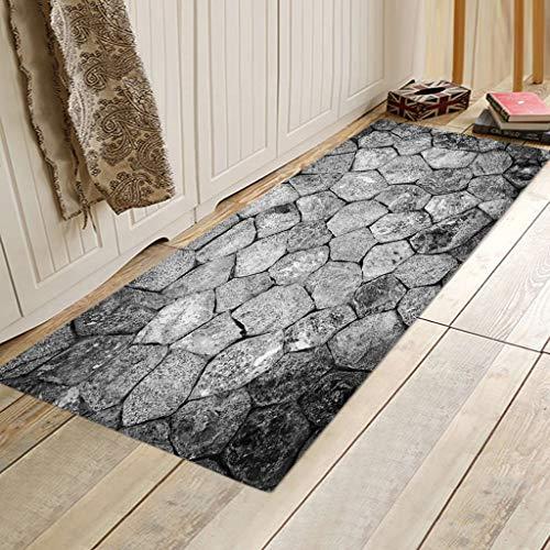 VICKY-HOHO Teppiche Küche Teppich Nicht Skid kleine Akzent werfen Teppiche für Eingang und Schlafzimmer -