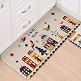 dyudyrujdtry Special Cartoon Flannel Kitchen Mat Bathroom Absorbent Non-slip Household Mat(None 50x80cm)