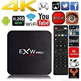 Amlogic EXW PRO Quad Core TV Box With Pre-installed Android 6.0 Lollipop OS TV Box Quad Core 1G/8G 4K Google Media Players with WiFi HDMI DLNA