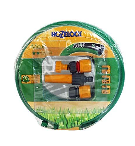 'Hozelock Maxi Ø 12,5 mm (1/2) 20 m avec kit de démarrage Raccords & buse