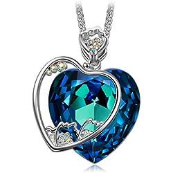 J.NINA Clavel Flor Collar Mujer cristales SWAROVSKI®