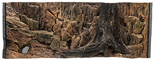 3D Aquarien Rückwand 120x50 Fels mit Wurzel