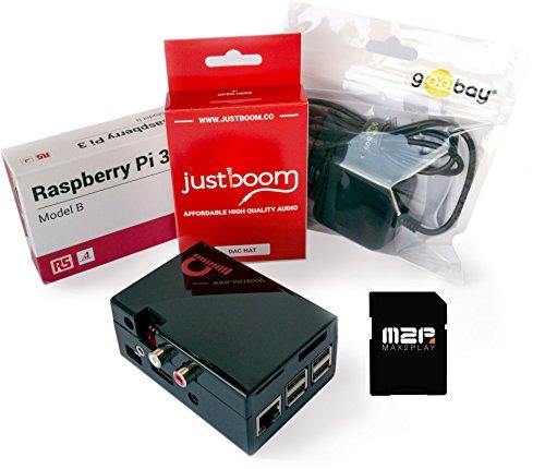 Multiroom HiFi komplett Starter Kit mit Raspberry Pi und Soundkarte JustBoom DAC HAT