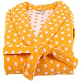 Lasa Graphic Dots - Albornoz, tipo smoking, talla M, color amarillo