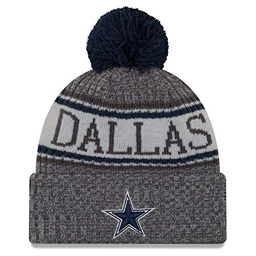 New Era NFL Dallas Cowboys 2018 Sideline Graphite Sport Knit