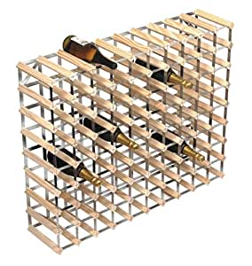 weinregal f r 90 weinflaschen 810 x100 x 23 cm k che haushalt. Black Bedroom Furniture Sets. Home Design Ideas