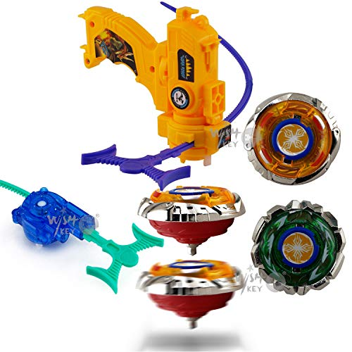 Wish Key High Speed Beyblade Metal Fusion Set With Launcher For Kids - Multi Color