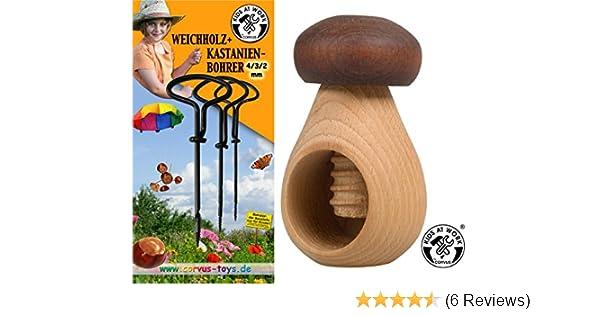 Bohrer für Kastanien NEU Handbohrer Kastanienbohrer 4-Teiliges Set 1-4 mm