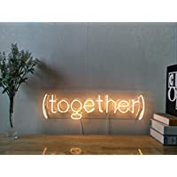Together Custom Dimmable LED Neon Signs for Wall Decor (Customizable Options: Color, Size, Wall Mounted, Desktop Type, Hanging in a Window/Ceiling,Electrical/Battery Powered)