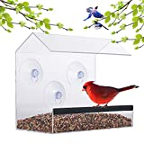 Window Bird Feeder – Acrylic Clear Bird Feeders – Bird Safe Scratch Resistant