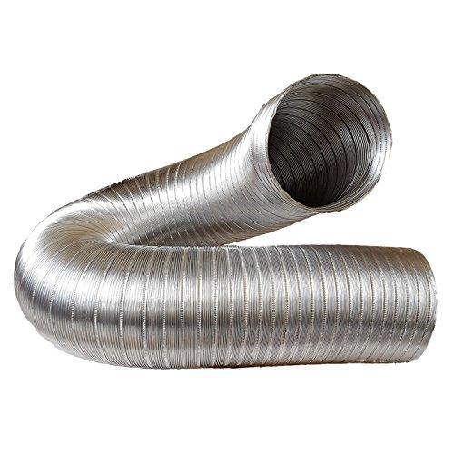 Abluftschlauch, Alu Flex Rohr, Aluminium flexibell Ø 150 mm, 3 m z.B. für Klimaanlagen, Wäschetrockner, Abzugshaube -