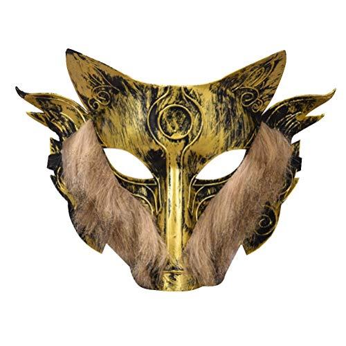 1 stück Wolf Kopf Maske Horror Vollmaske Erwachsene Männliche und Weibliche Werwolf Töten Maske Maskerade Maske for Halloween Zubehör (Color : Golden) (Töten Zombie Kostüm)