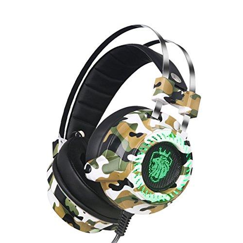 Professionelle Gaming-Kopfhörer Eingebaute Soundkarte USB-Kopfhörer mit 7.1-Kanal-Stereo-Kabel mit Mikrofon für Gamer