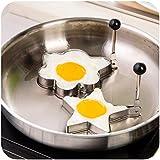 preadvisor (TM) 1pc de cocina redondo acero inoxidable Pancake molde huevo frito Pancake Mold Mold & Love con forma de huevo frito molde forma huevos de cocina herramientas D2