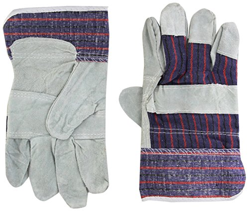 BOSS Handschuhe hellgrün/grau groß grau und blau Economy Split Leder Palm Handschuhe (Boss-split-leder)