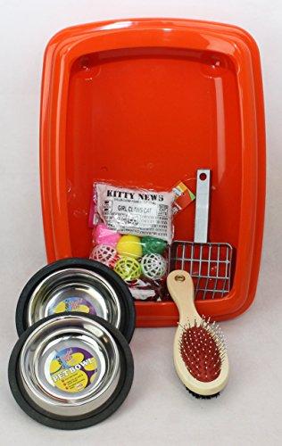 cat-kitten-starter-kit-with-42cm-litter-tray-clean-n-tidy-orange