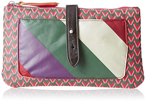 Bensimon - Clutch Bag, Pochette Donna Rose (Imprime Rose)