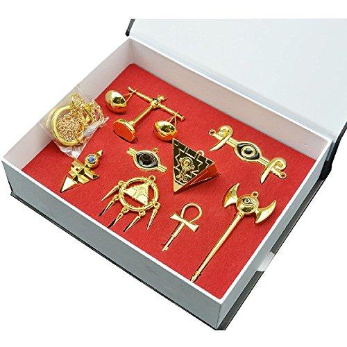 Millenium Puzzle Schlüsselanhänger Legierung Halskette Anhänger Gold Schmuck - Yugioh Halloween-kostüm