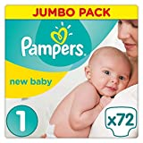 Pampers New Baby Premium Protection, 72 Pannolini, Taglia 1 (2-5 kg) - Pampers - amazon.it