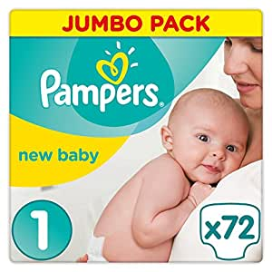 Pampers New Baby Premium Protection, 72 Pannolini, Taglia 1 (2-5 kg)