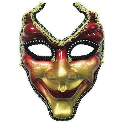 Red & Gold Venezianische Maskerade Maske - Erwachsene Silvester Weihnachten Maske - One (Red Lace Maske)