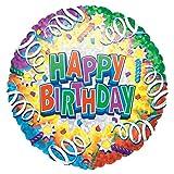 ANAGRAM Folienballon Happy Birthday, Heliumfüllung:Gefüllt