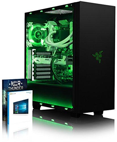 VIBOX Voxel RSR760-254 Gaming PC Computer mit War Thunder Spiel Bundle, Windows 10 OS (3,7GHz AMD Ryzen 8-Core Prozessor, ASUS Radeon RX 460 Grafikkarte, 8Go DDR4 2400MHz RAM, 1TB HDD)