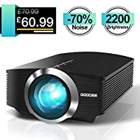GooDee Video Projector Black and White