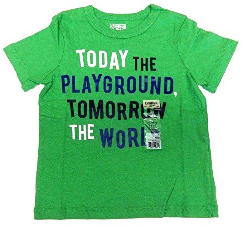 OshKosh B'Gosh T-Shirt Größe 98/104 Grün für Jungen Spruch US Size 4 t Sommer (T-shirt Kinder Oshkosh)