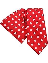 PickaPocket - Conjunto - para hombre Rojo BRIGHT RED LARGE FORMAT WHITE POLKA DOT SPOT PATTERN Talla única
