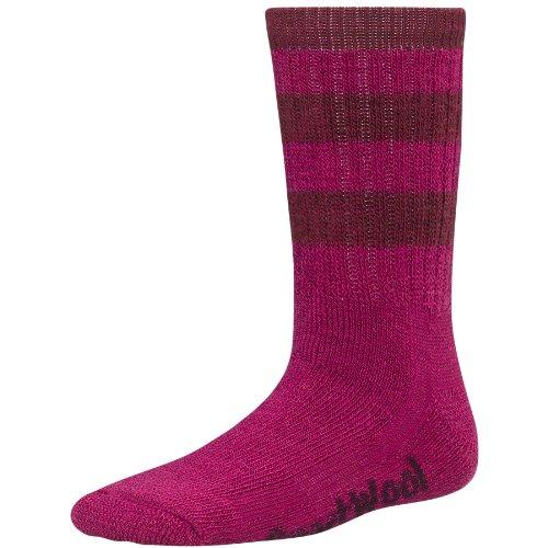 Smartwool paire de chaussettes pour enfant k stripe hike crew Multicolore Berry/Wine M