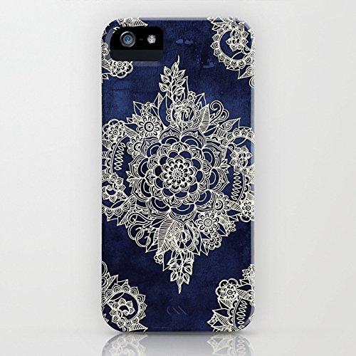 Cover iPhone SE, ZQ-Link Cover iPhone SE / 5 / 5S Silicone Case Molle di TPU Sottile Custodia per iPhone SE / 5 / 5S-costellazione Fiore cremoso