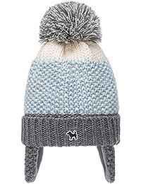 c4172c6feec556 Hanmorlla Winter Kinder Strickmütze Bommelmütze Wollmütze Mütze mit  Fellbommel Wintermütze für Mädchen /Jungen Ski Hüte…