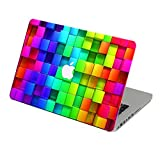 Elton Multi-Color Cubes Apple Mac-book Air 13 inch 3M Skin with Apple logo cut