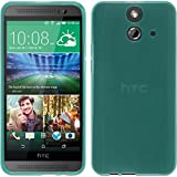 PhoneNatic Case für HTC One E8 Hülle Silikon türkis, transparent + 2 Schutzfolien