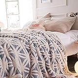 FOREVER-YOU Flanell Lamm Fleece Decke Decke Dicke Wolldecken Winter Kleine Mittagsschlaf und 1.6 * 2 M, C