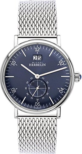Men's Watch Michel Herbelin - 18247/15B - Inspiration - Silver and Blue - Milanese Band