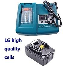 Reemplazar 1PCS 18V 3000mAh Makita batería BL1815 BL1830 (Herramienta eléctrica de la batería) con 1PCS cargador de 1.5A