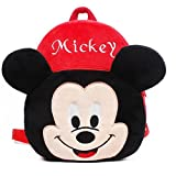 #9: Blue Tree Soft Material School Bag for Kids Plush Backpack Cartoon Toy | Children's Gifts Boy/Girl/Baby/ Decor School Bag for Kids(Age 2 to 6 Year) (Micky)(Rad)